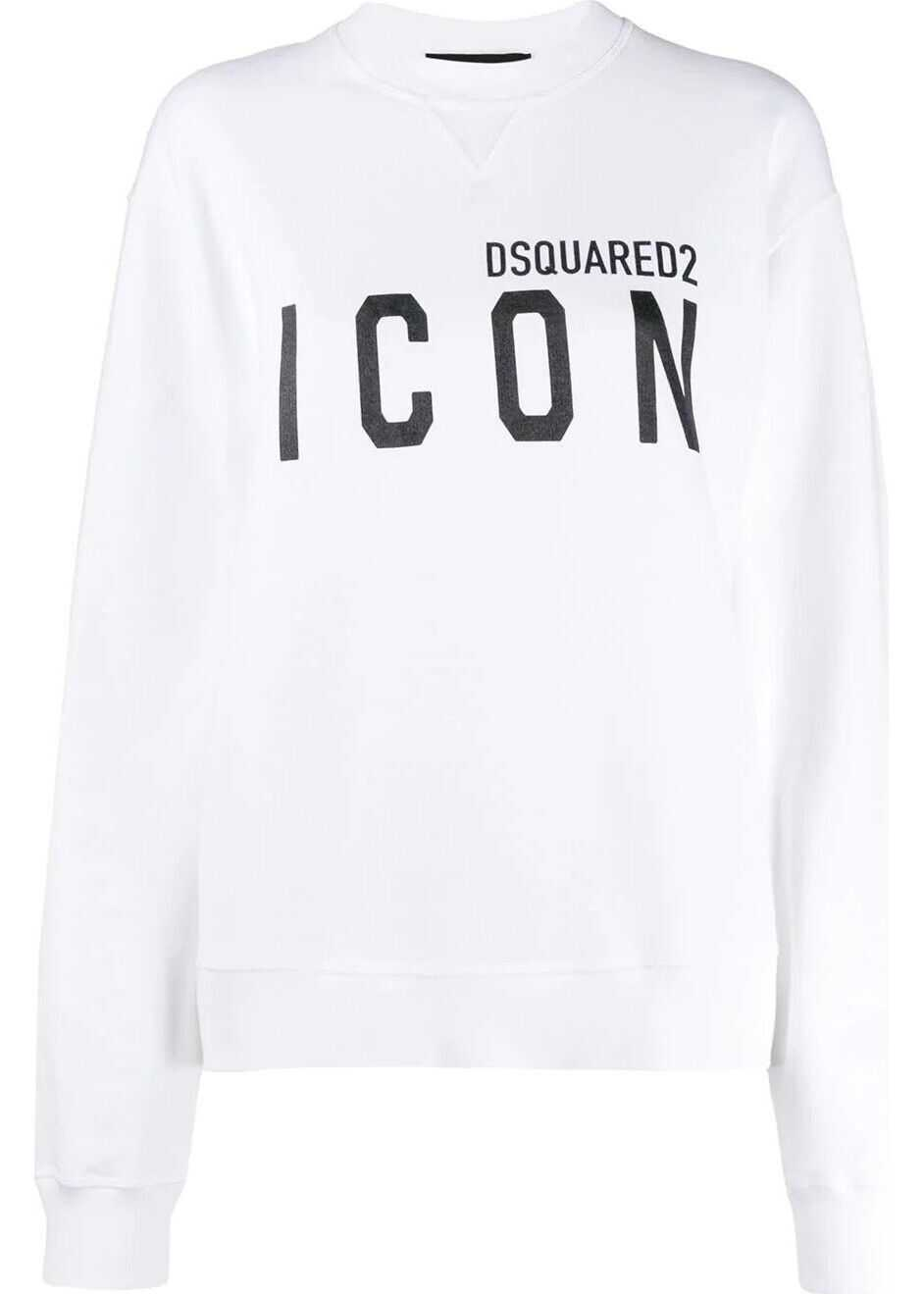 DSQUARED2 Cotton Sweatshirt WHITE