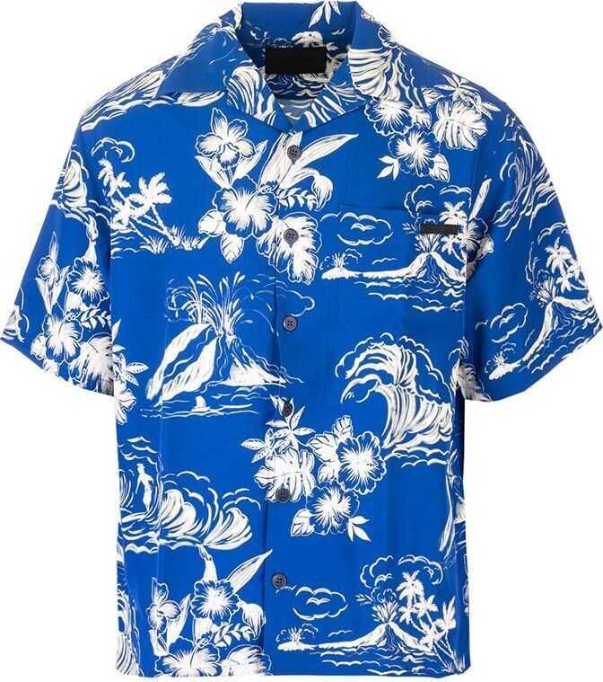 Prada Cotton Shirt BLUE