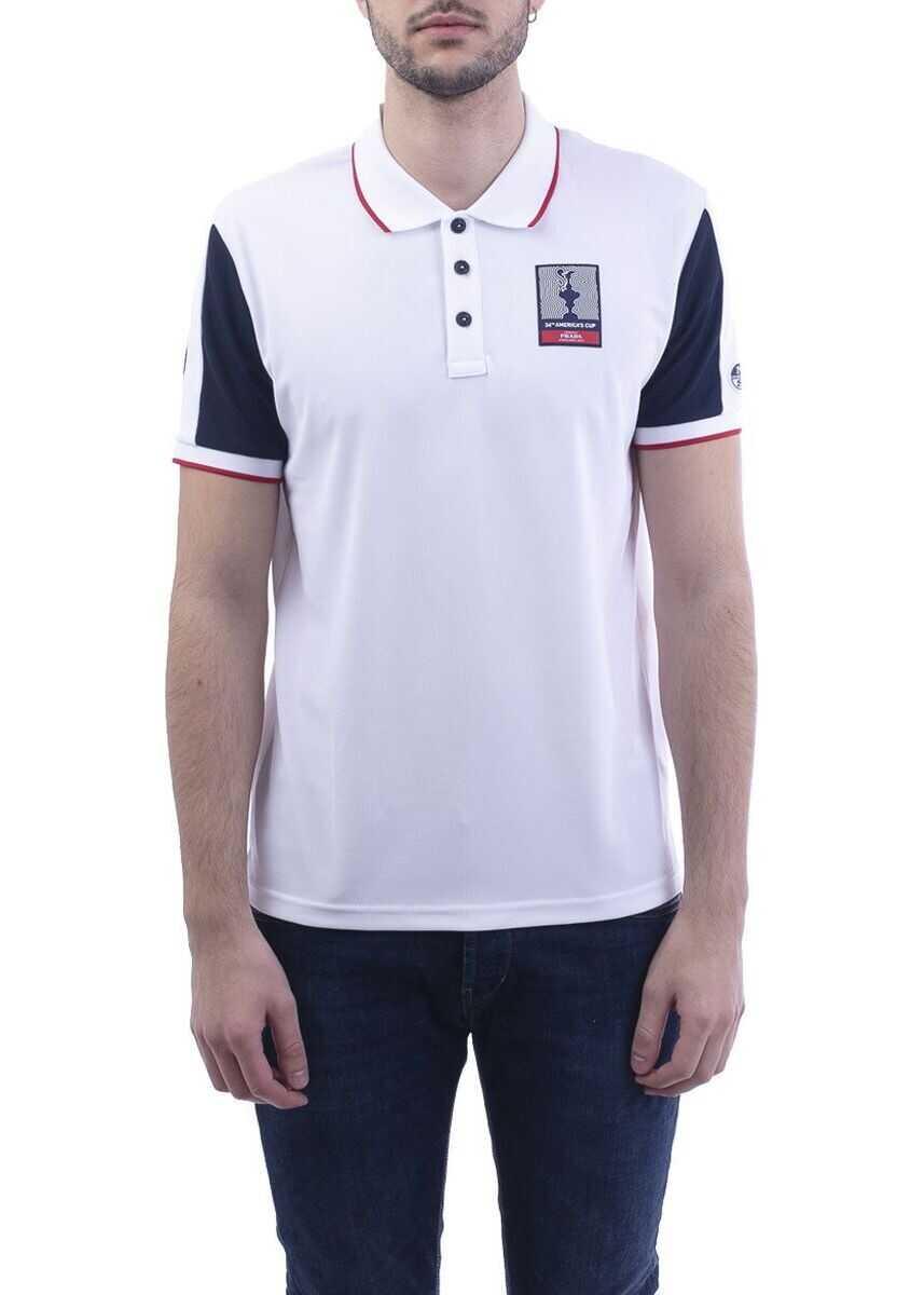 Prada Polyester Polo Shirt WHITE