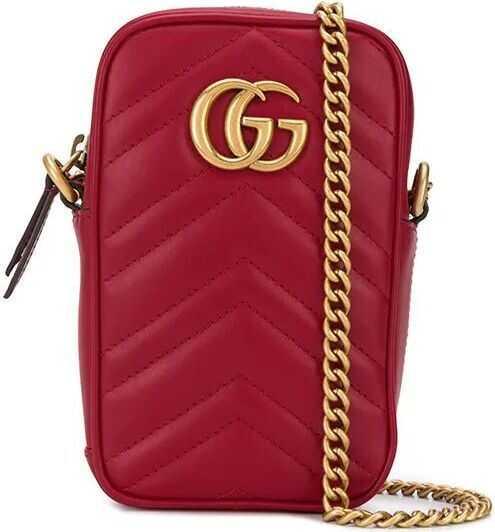 Gucci Leather Shoulder Bag RED