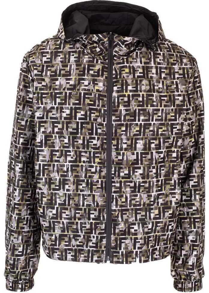 Fendi Polyester Outerwear Jacket MULTICOLOR