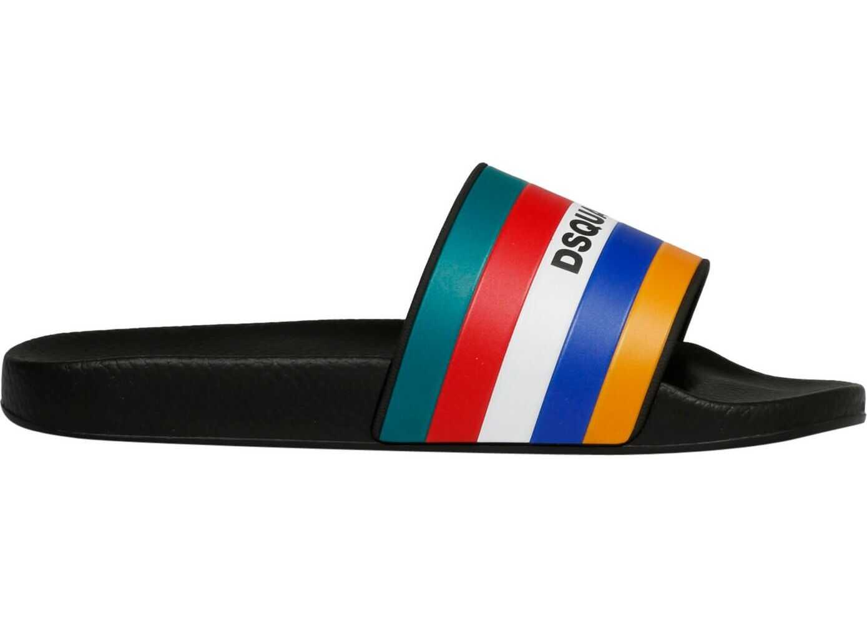 DSQUARED2 Rubber Sandals MULTICOLOR
