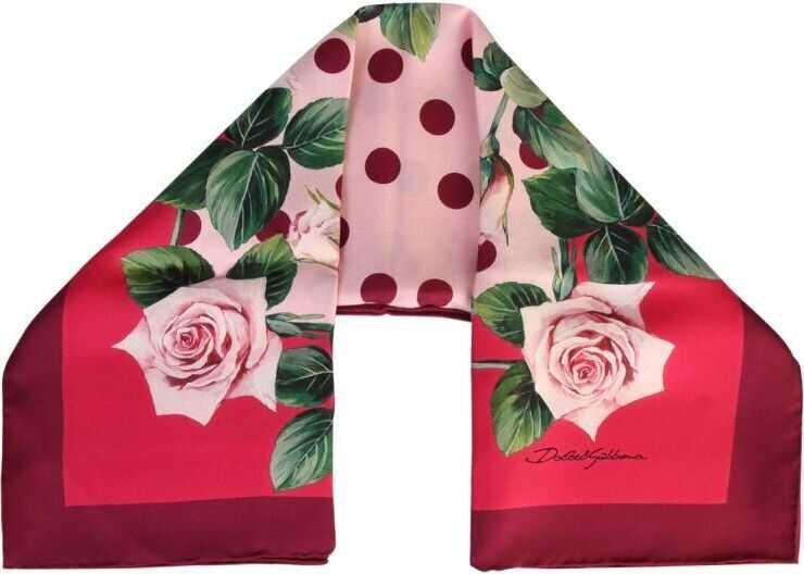 Dolce & Gabbana Silk Foulard RED