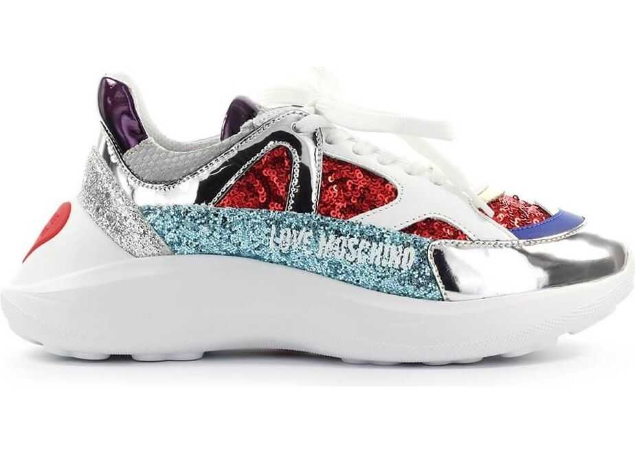 LOVE Moschino Leather Sneakers MULTICOLOR