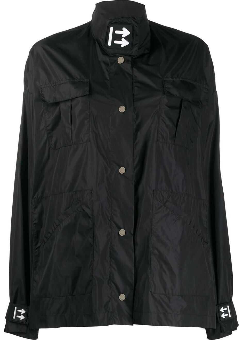 Off-White Polyamide Outerwear Jacket BLACK
