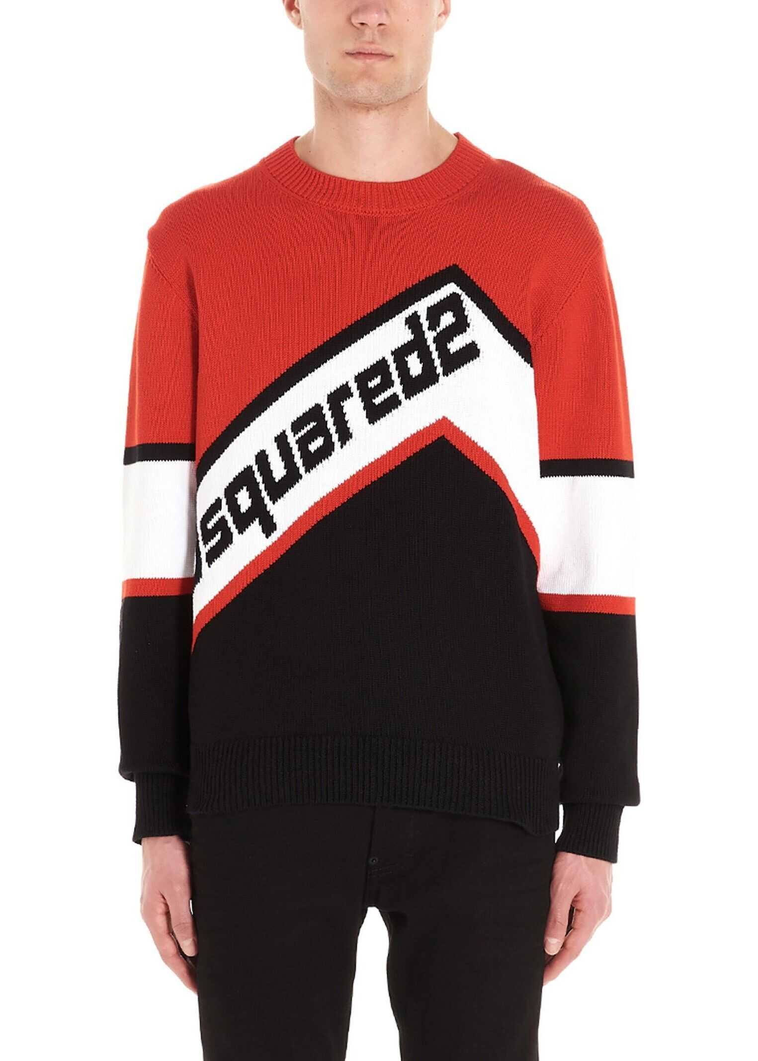 DSQUARED2 Cotton Sweater RED