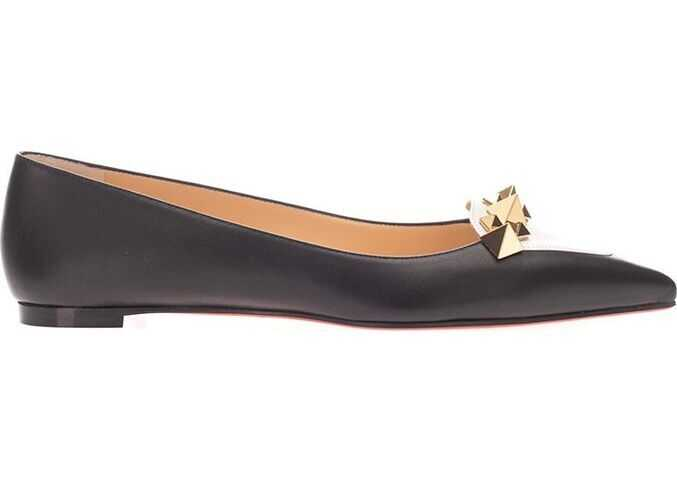 Christian Louboutin Leather Flats BLACK