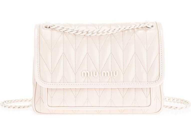 Miu Miu Leather Shoulder Bag WHITE