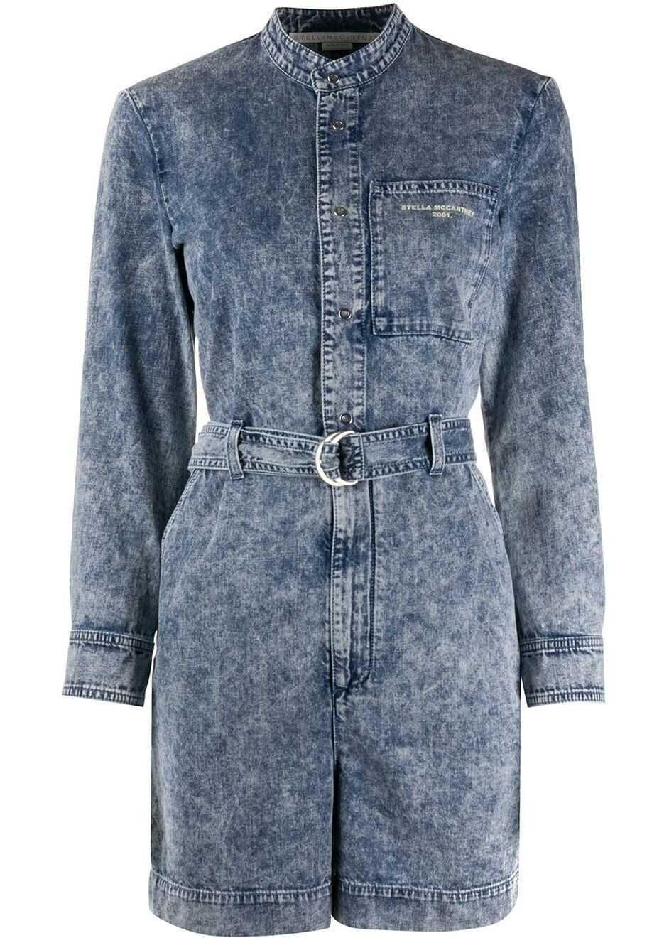 adidas by Stella McCartney Cotton Jumpsuit LIGHT BLUE
