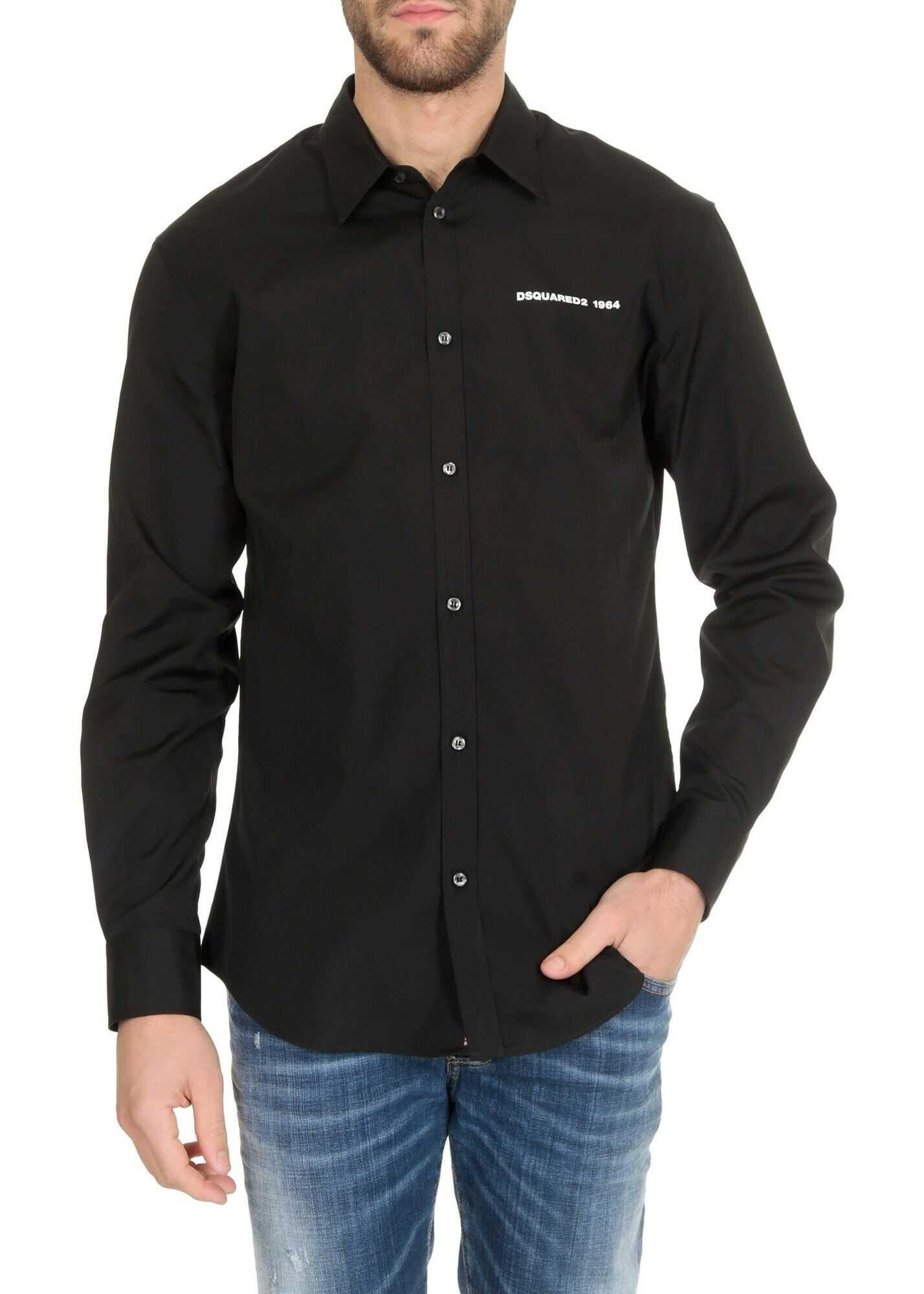 DSQUARED2 Poplin Relax Dan Shirt In Black Black