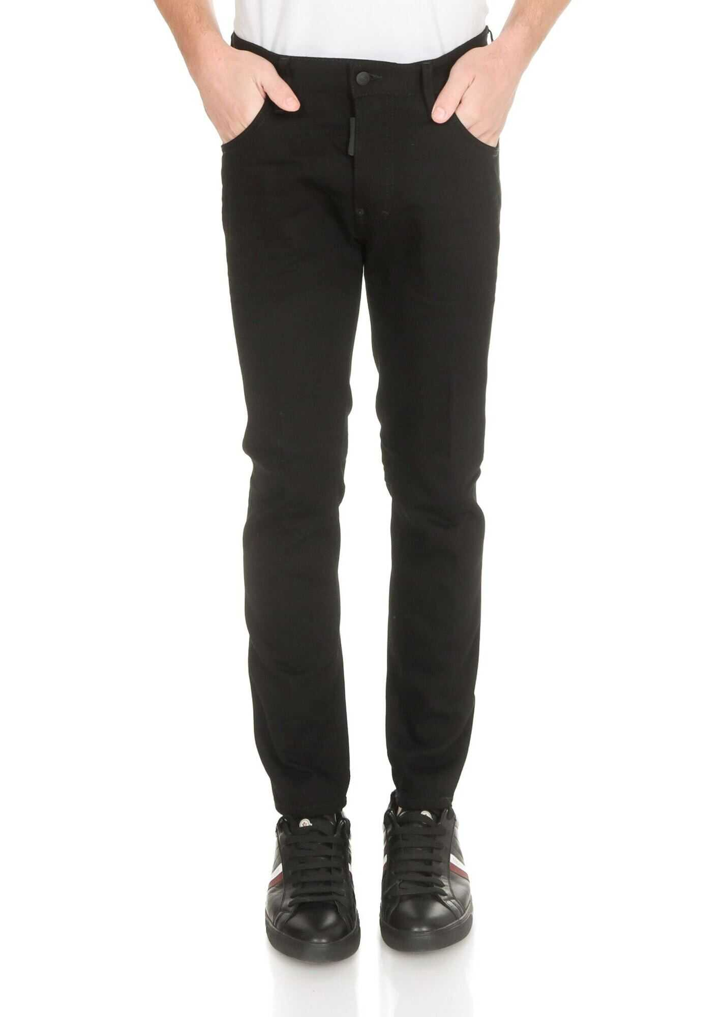 DSQUARED2 Skater Jeans In Black Black imagine