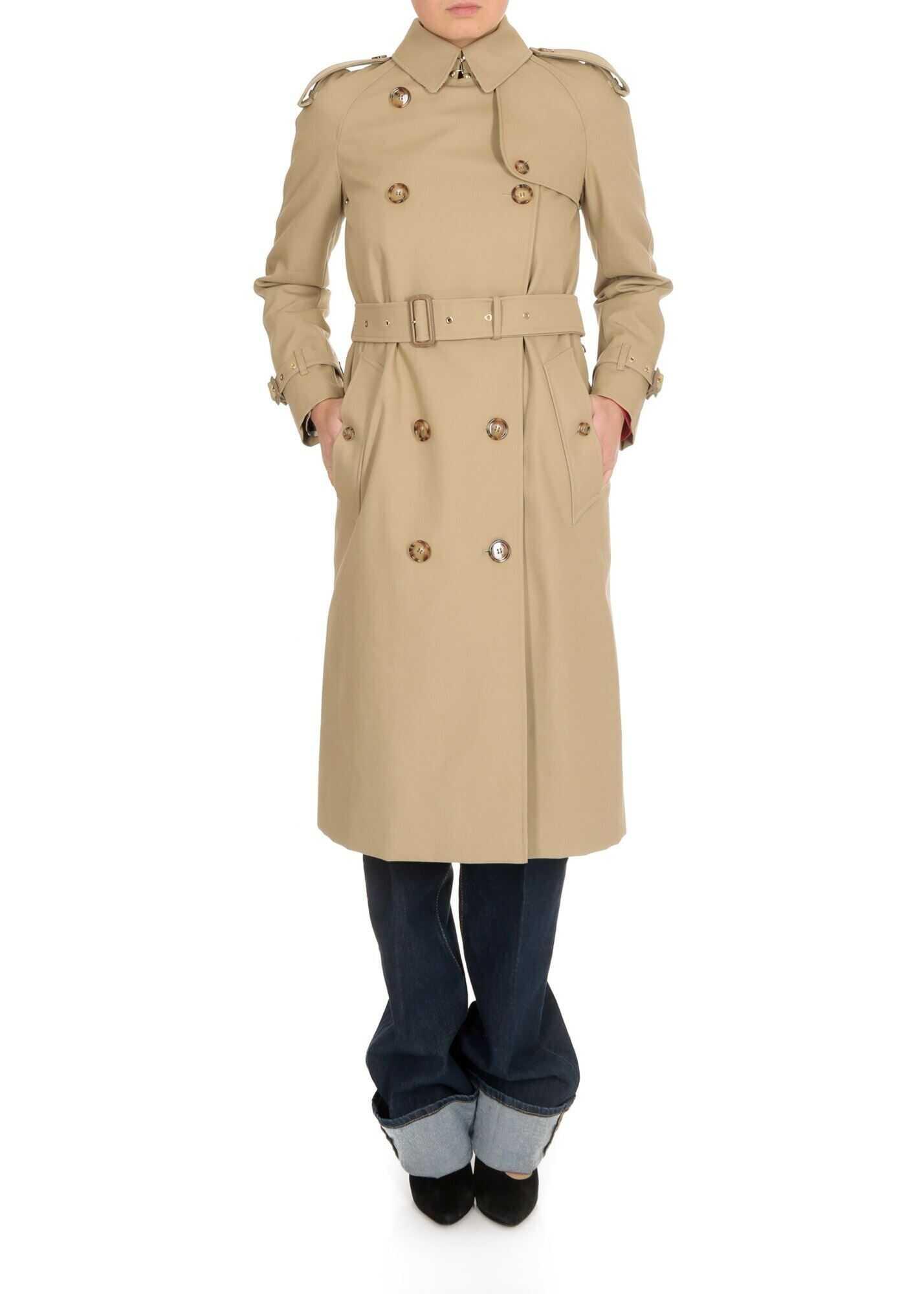 Bridstown Trench Coat In Honey Beige thumbnail