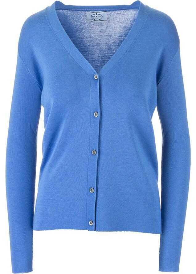 Prada Cashmere Cardigan LIGHT BLUE