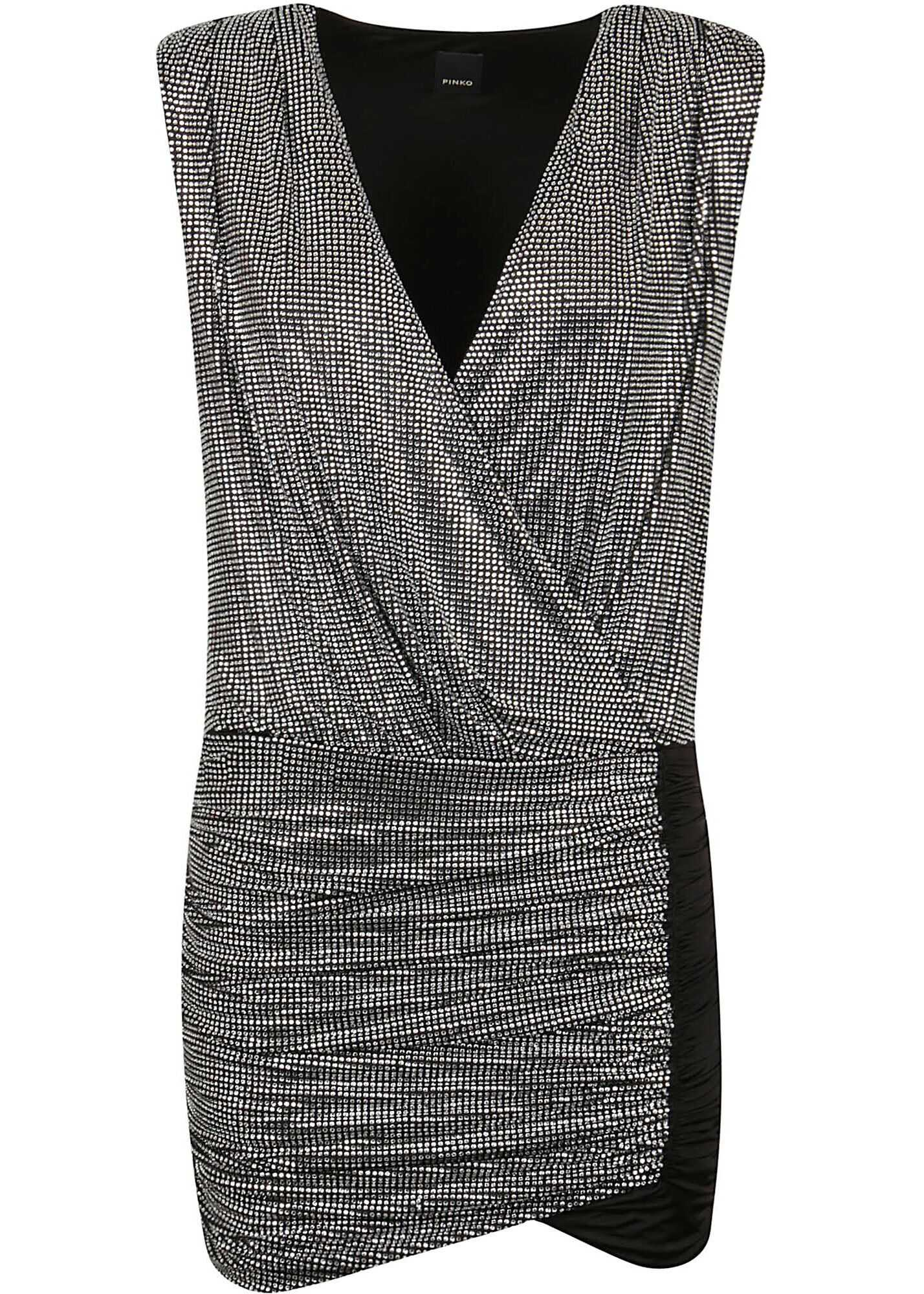 Pinko Polyester Dress BLACK