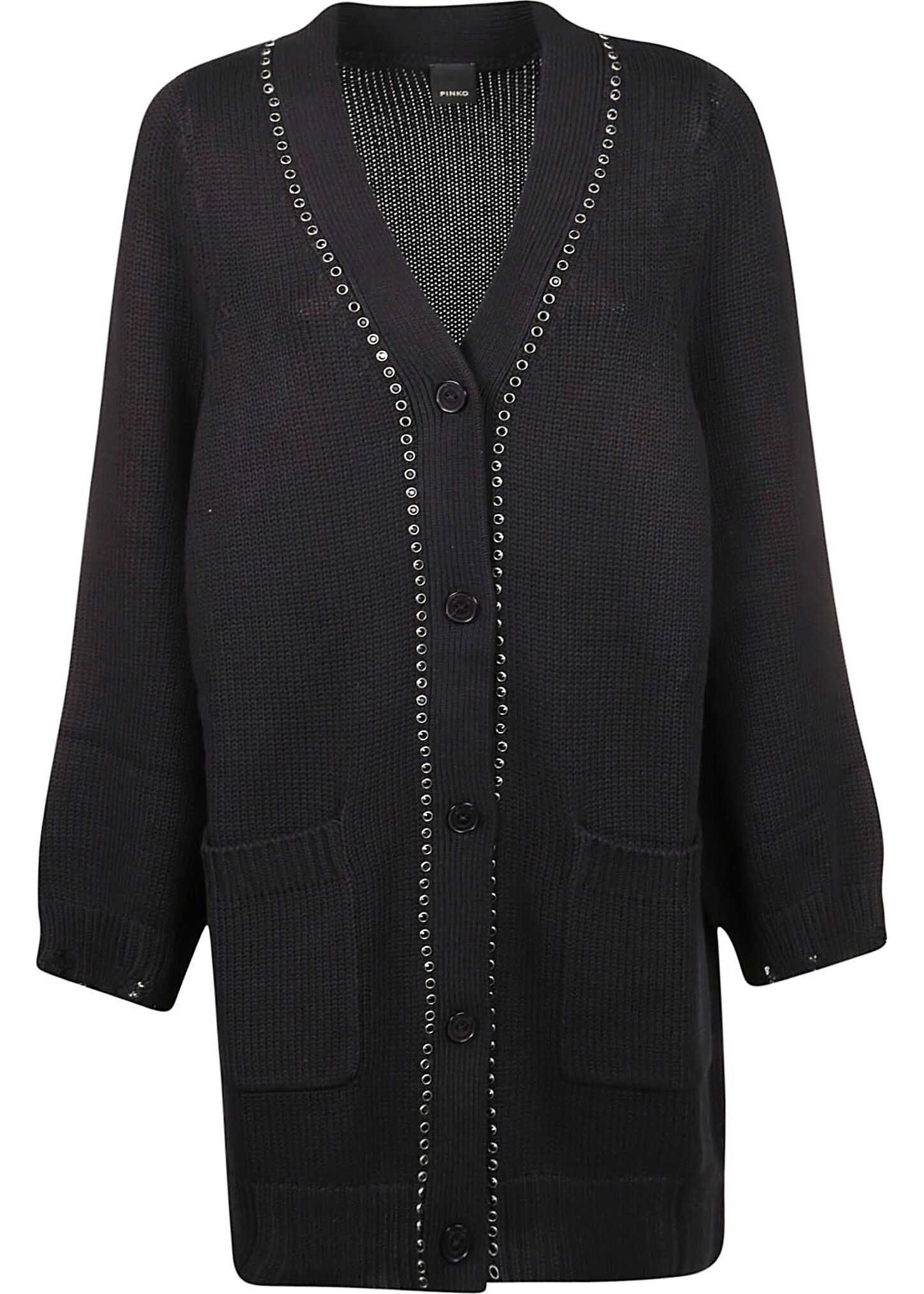 Pinko Wool Cardigan BLACK