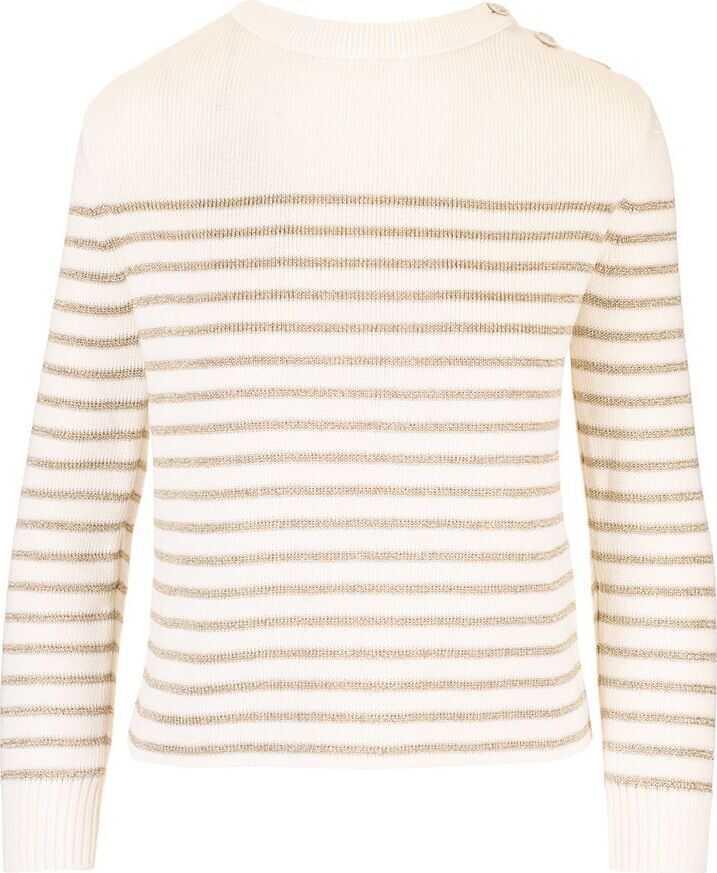 Saint Laurent Cotton Sweater BEIGE