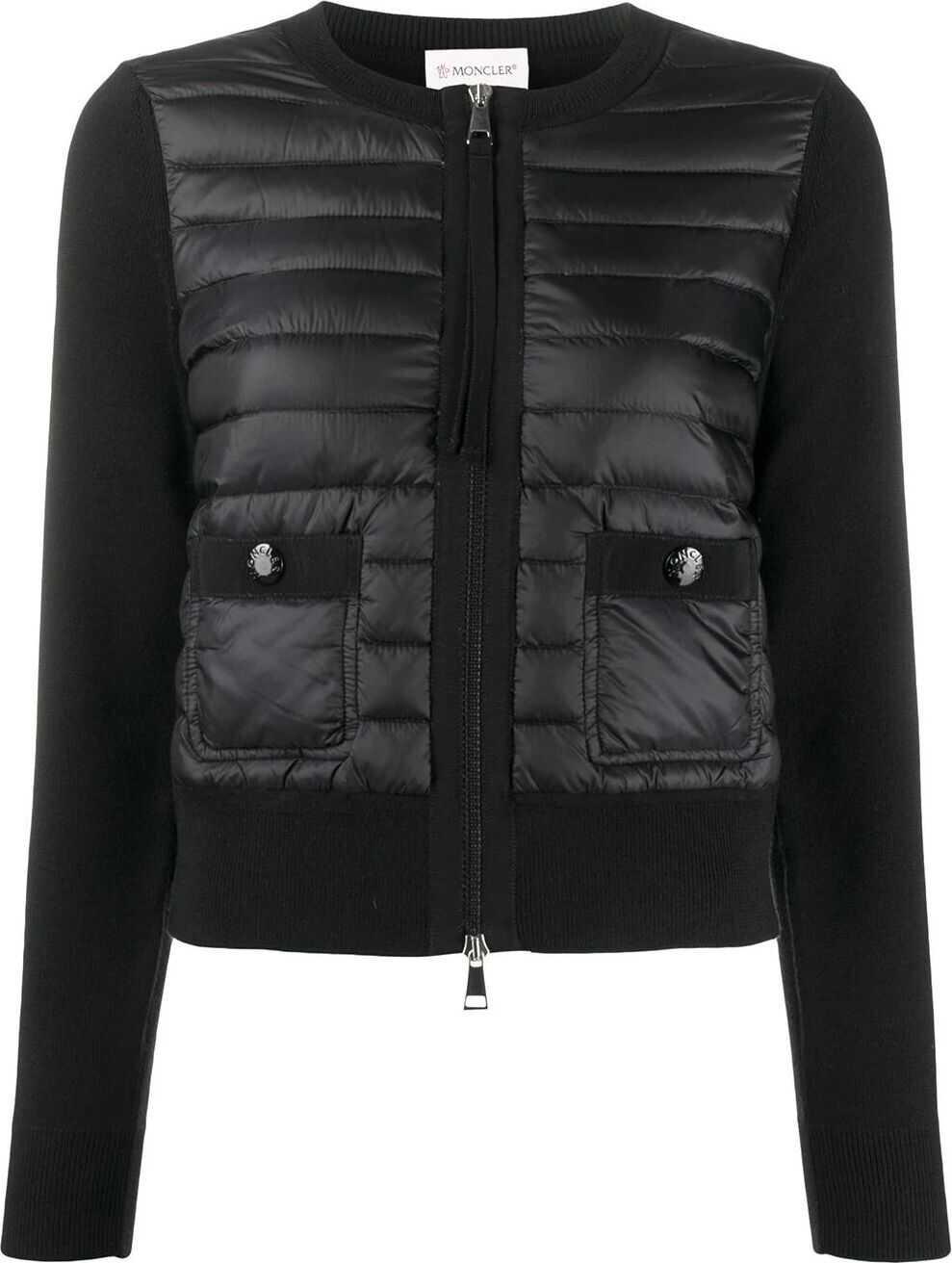 Moncler Polyamide Outerwear Jacket BLACK