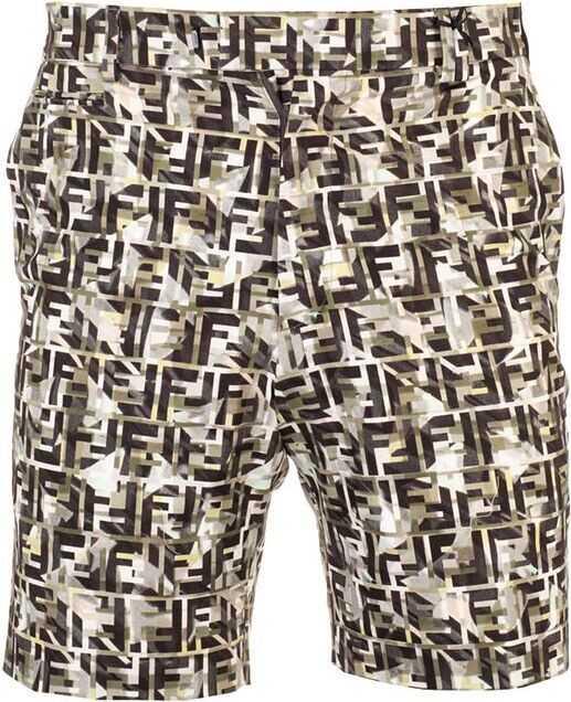 Fendi Cotton Shorts MULTICOLOR