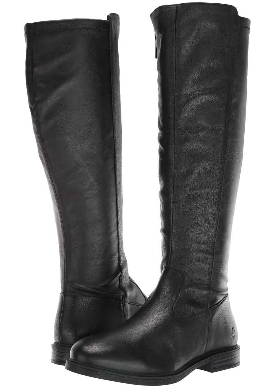 Hush Puppies Bailey Stretch Boot Black Leather/Stretch