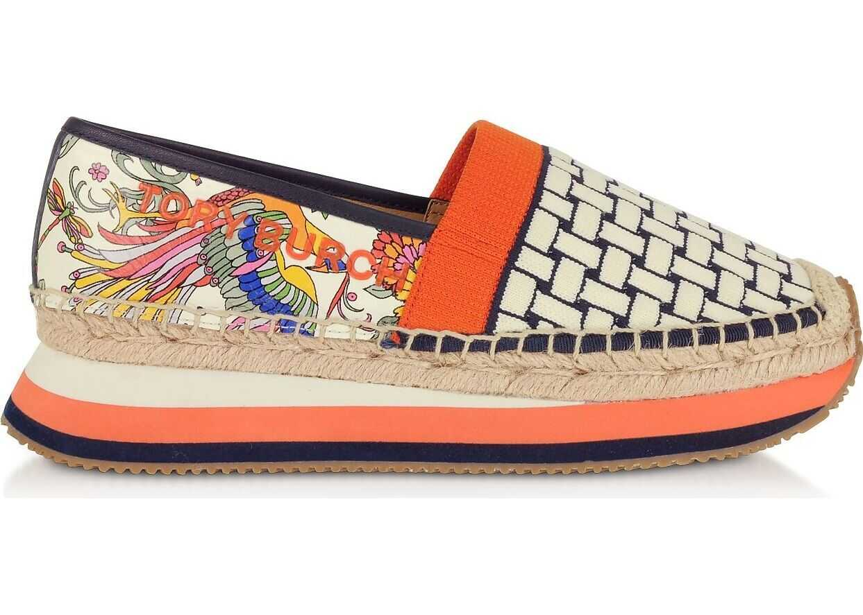 Tory Burch Leather Espadrilles MULTICOLOR