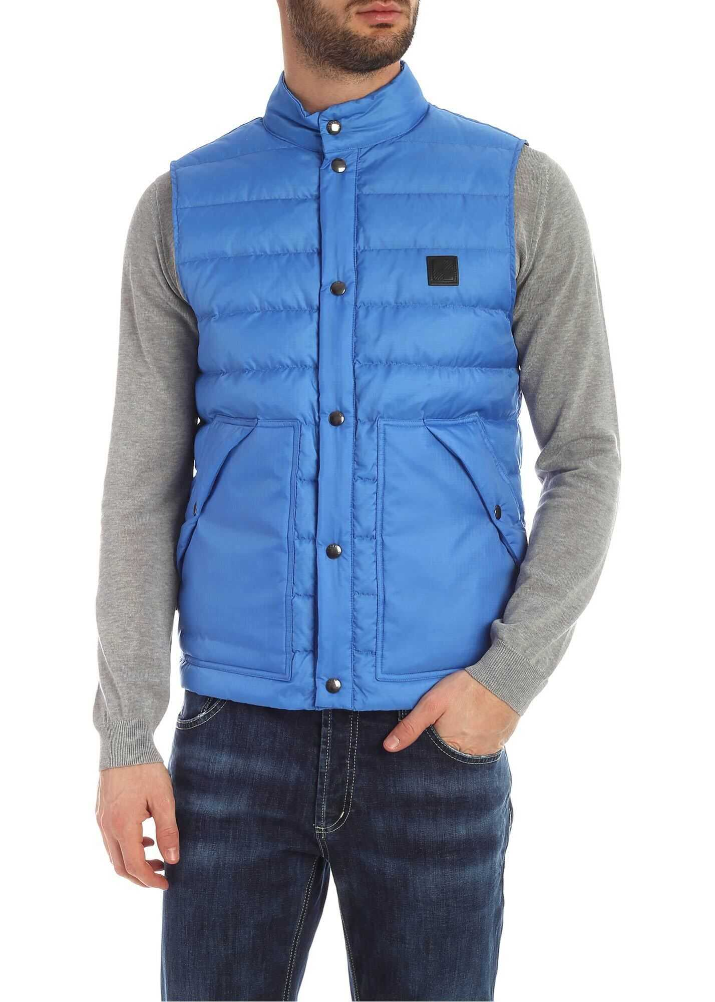 Woolrich Quilted Waistcoat In Turquoise Turquoise
