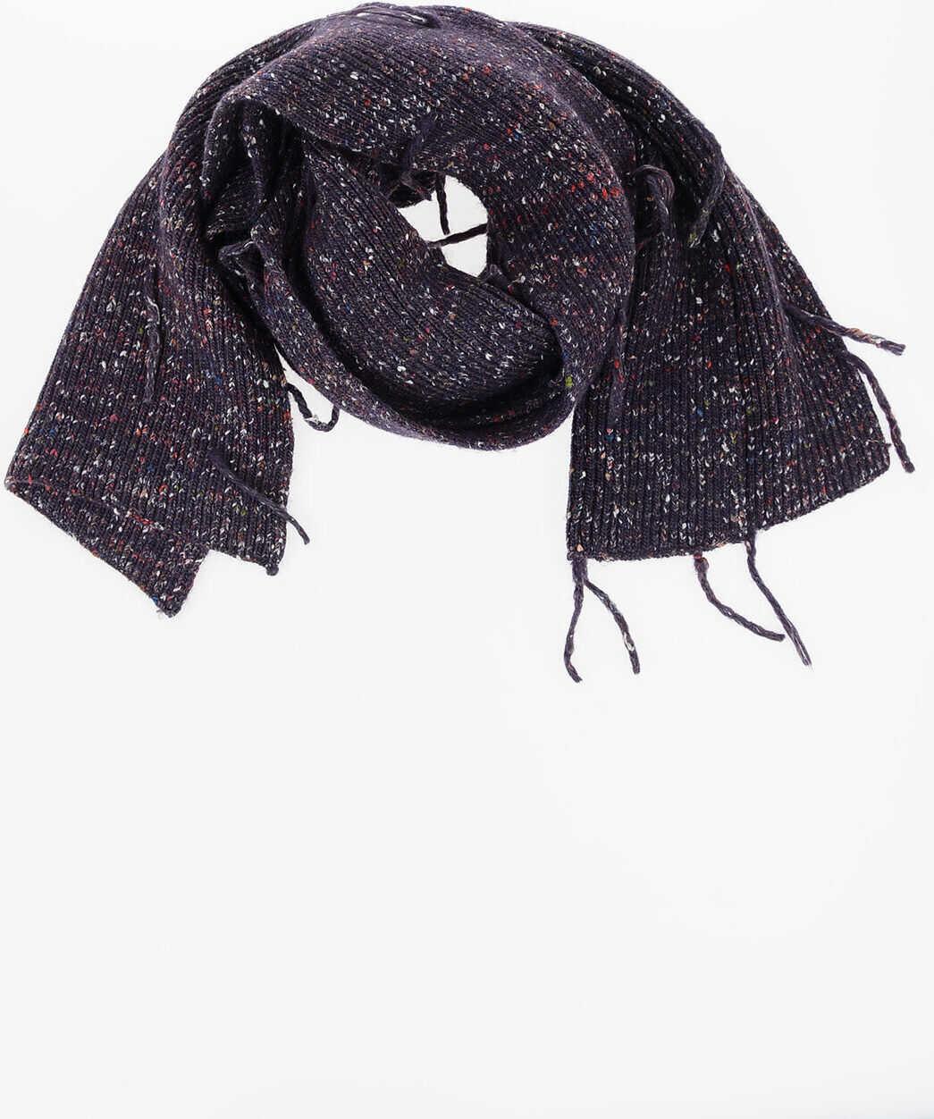 Maison Margiela MM10 Alpaca Silk and Wool Scarf VIOLET