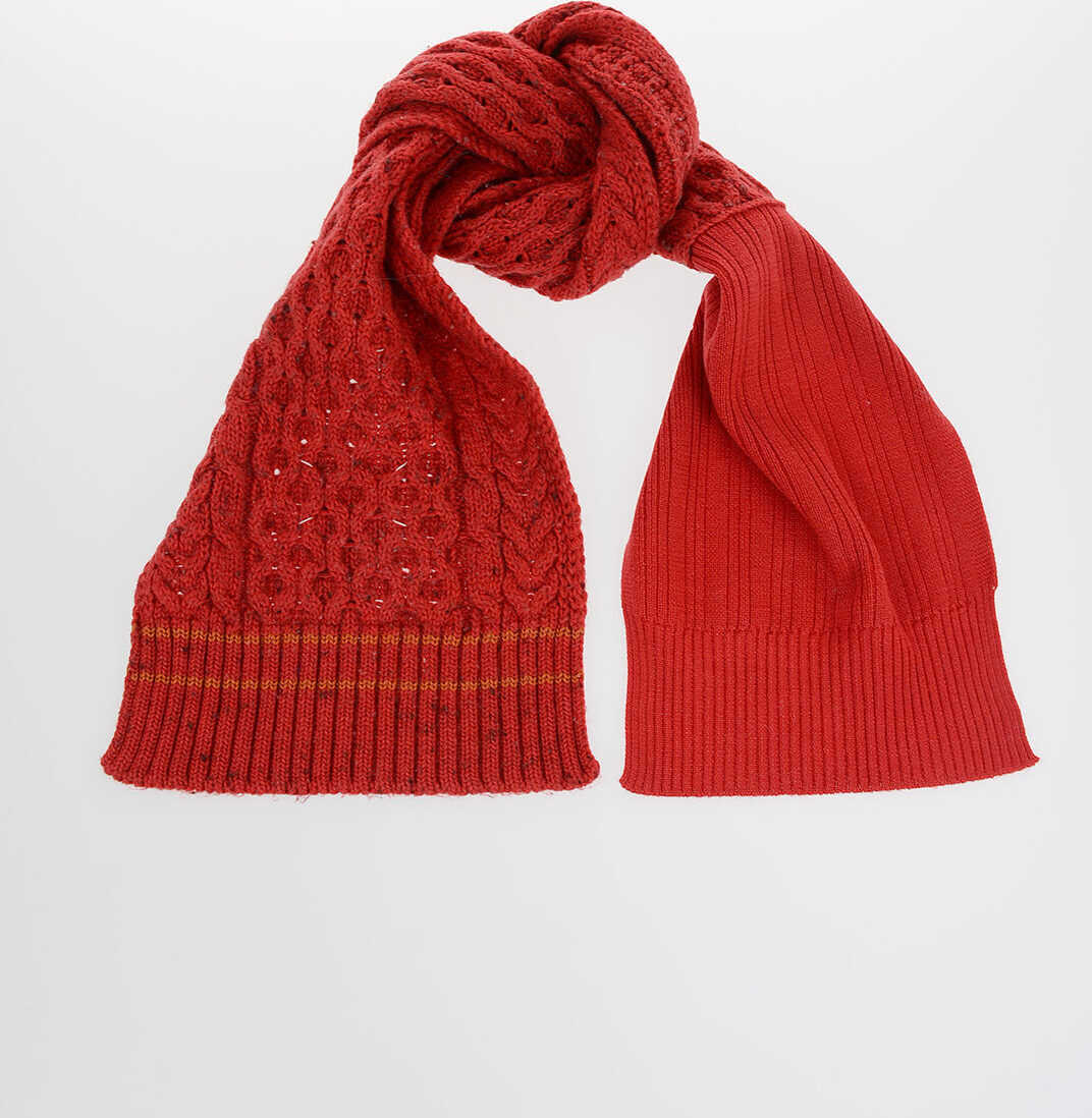 Maison Margiela MM4 Wool and Cotton Scarf RED