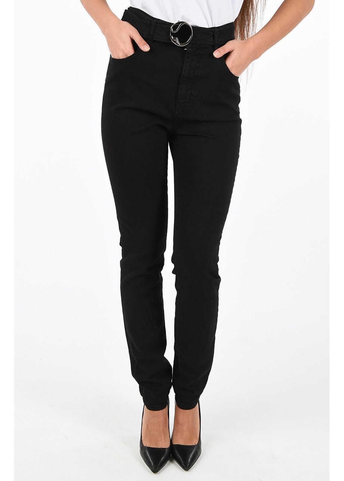 Just Cavalli Slim Fit Jeans with Belt BLACK