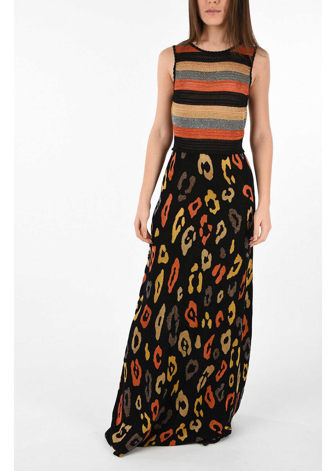 Just Cavalli Glittered Knit Dress MULTICOLOR
