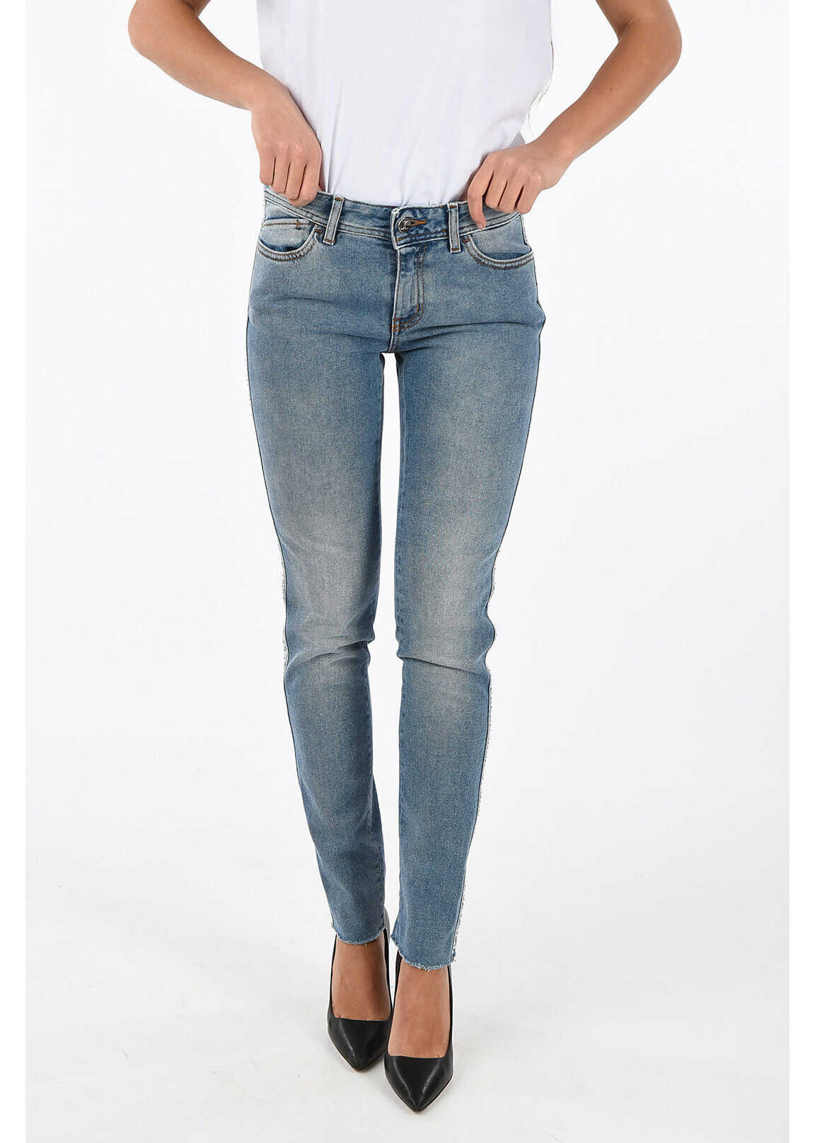Just Cavalli Studded Slim Fit Jeans BLUE