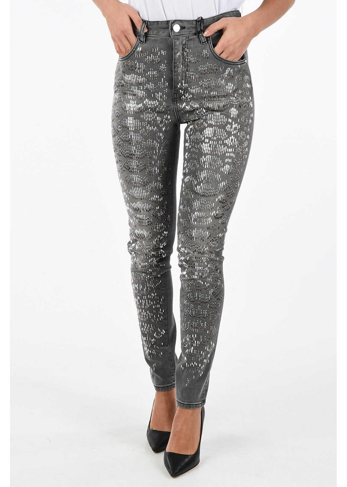 Just Cavalli Studded Slim Fit Jeans GRAY
