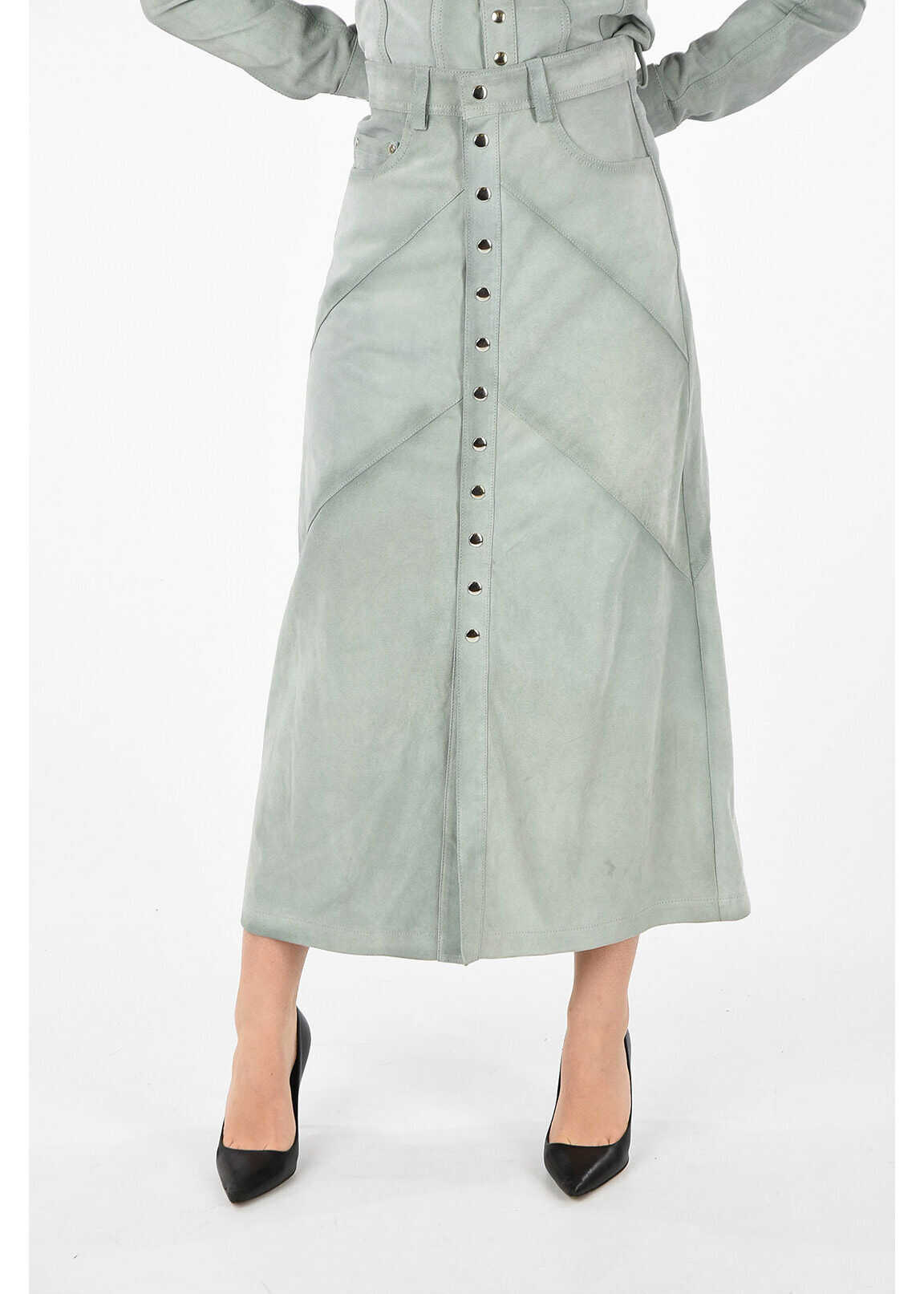 BLACK GOLD Suede Leather OLOPRESS Skirt thumbnail