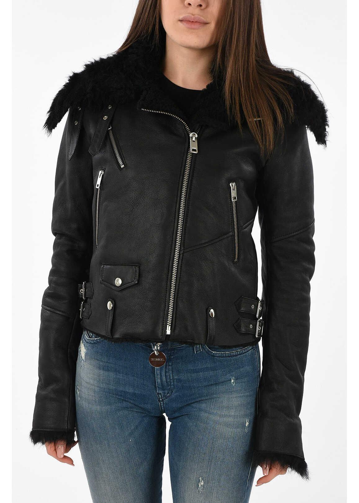 Diesel Leather L-TIA jacket BLACK
