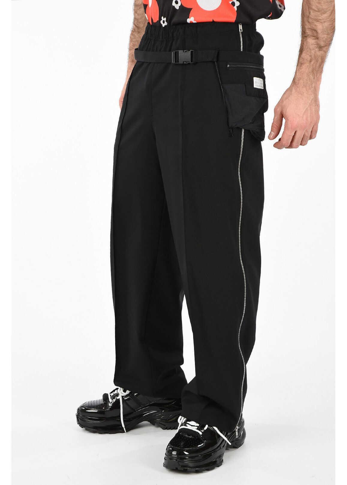 MM10 Wide Leg Virgin Wool Pants thumbnail