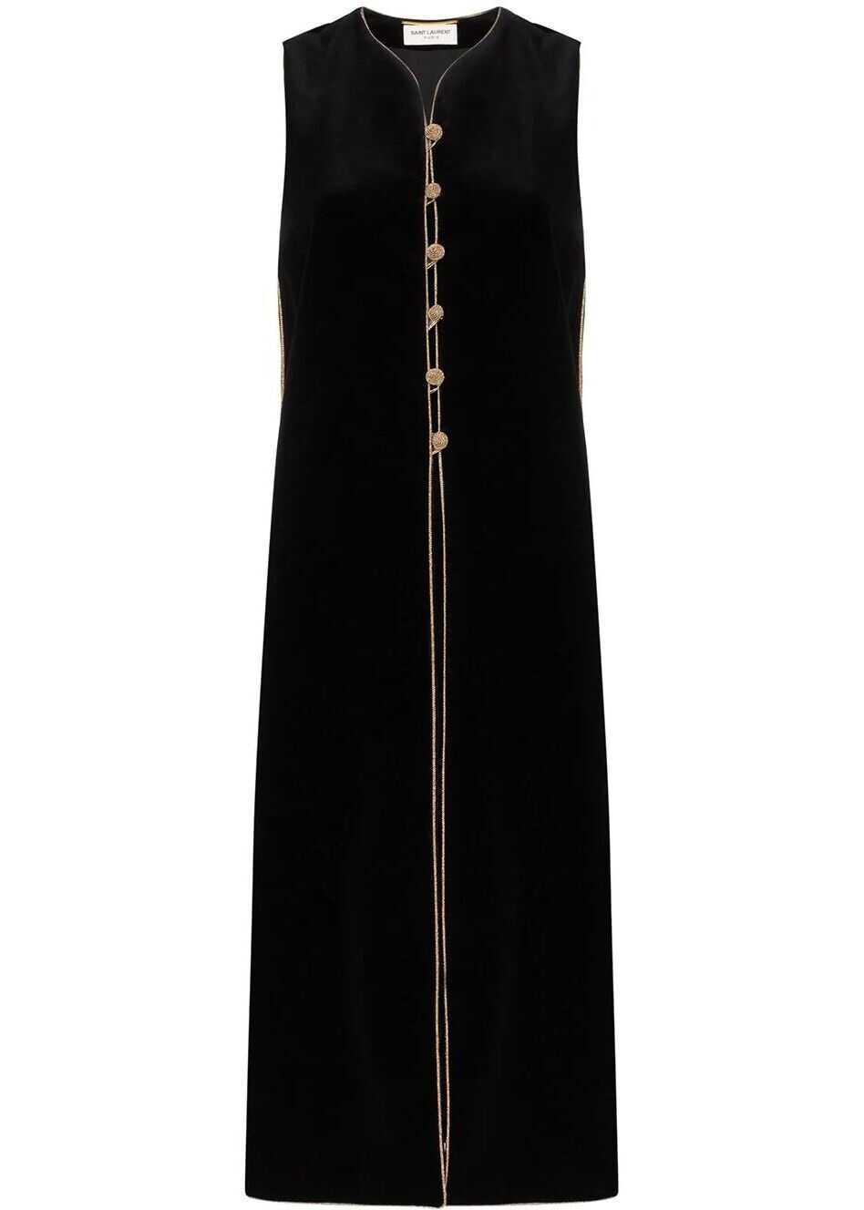 Saint Laurent Cotton Vest BLACK