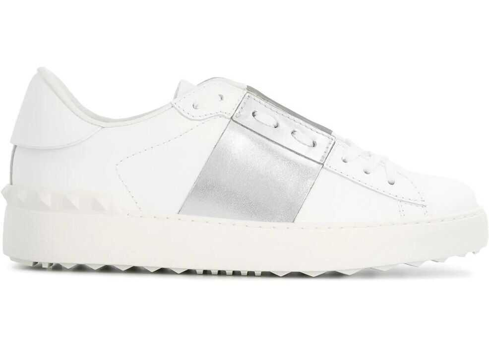 Valentino Garavani Leather Sneakers WHITE
