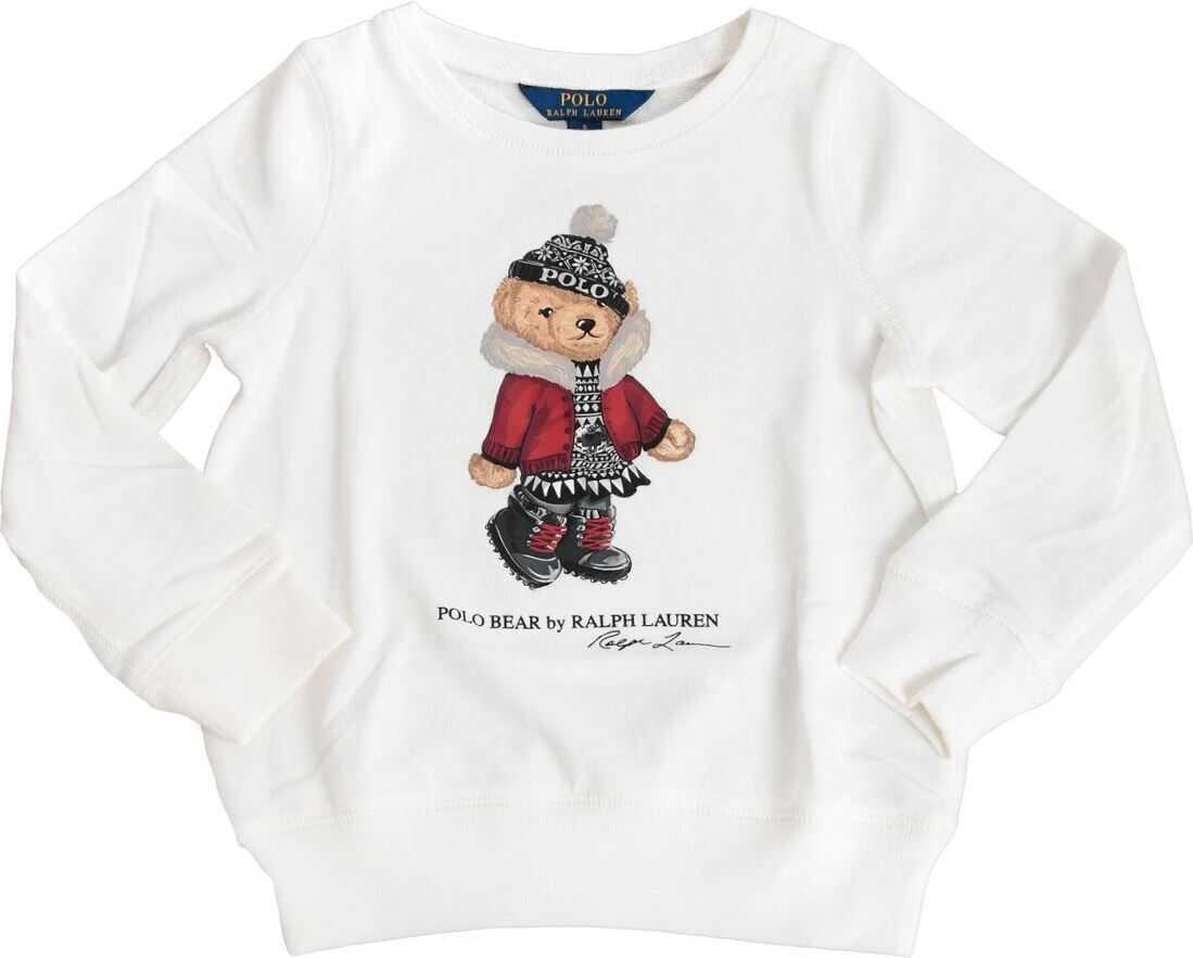 Ralph Lauren Holiday Bear Terry Pullover In White* White