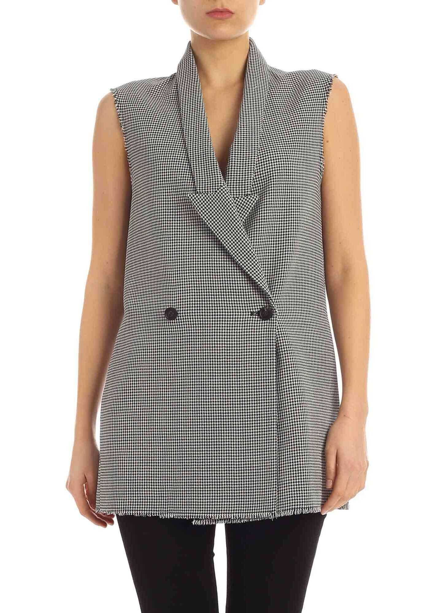 Golden Goose Jennifer Waistcoat In Black And White Black