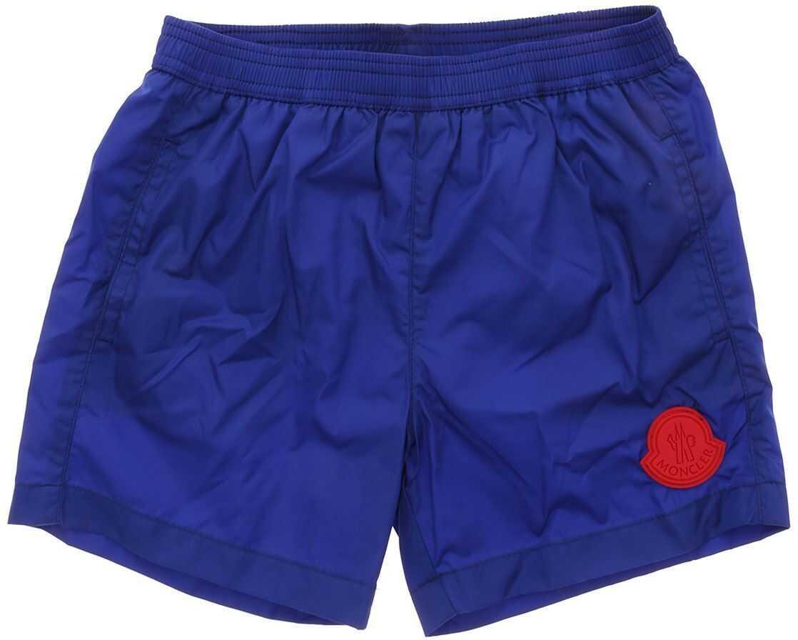 Logo Swim Trunks In Blue thumbnail