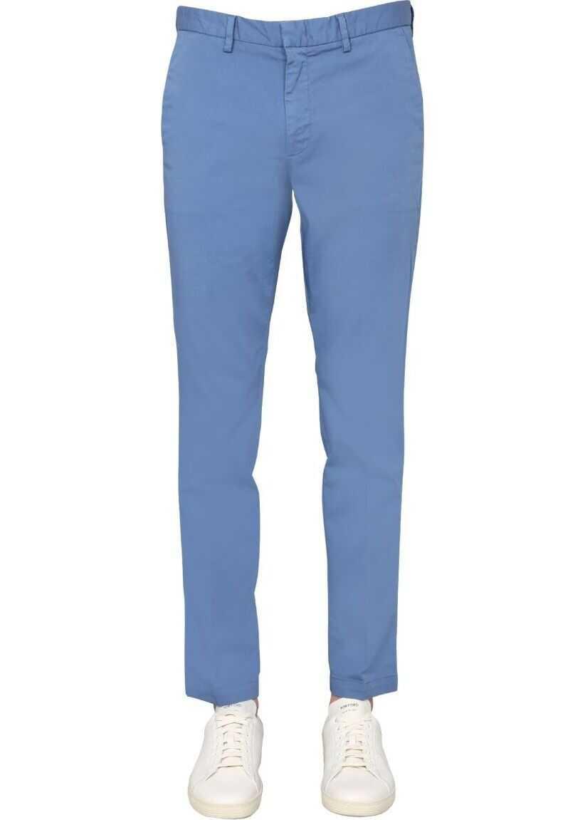 BOSS Hugo Boss Cotton Pants LIGHT BLUE