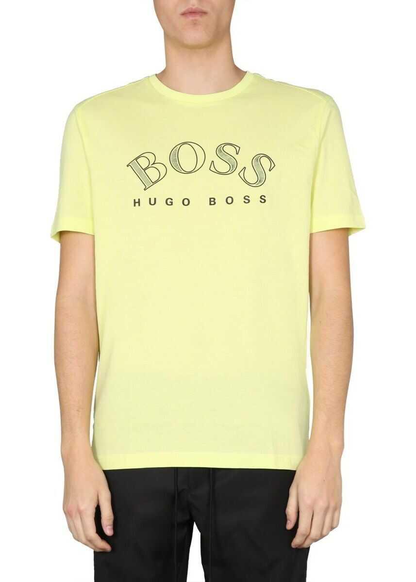 BOSS Hugo Boss Cotton T-Shirt YELLOW