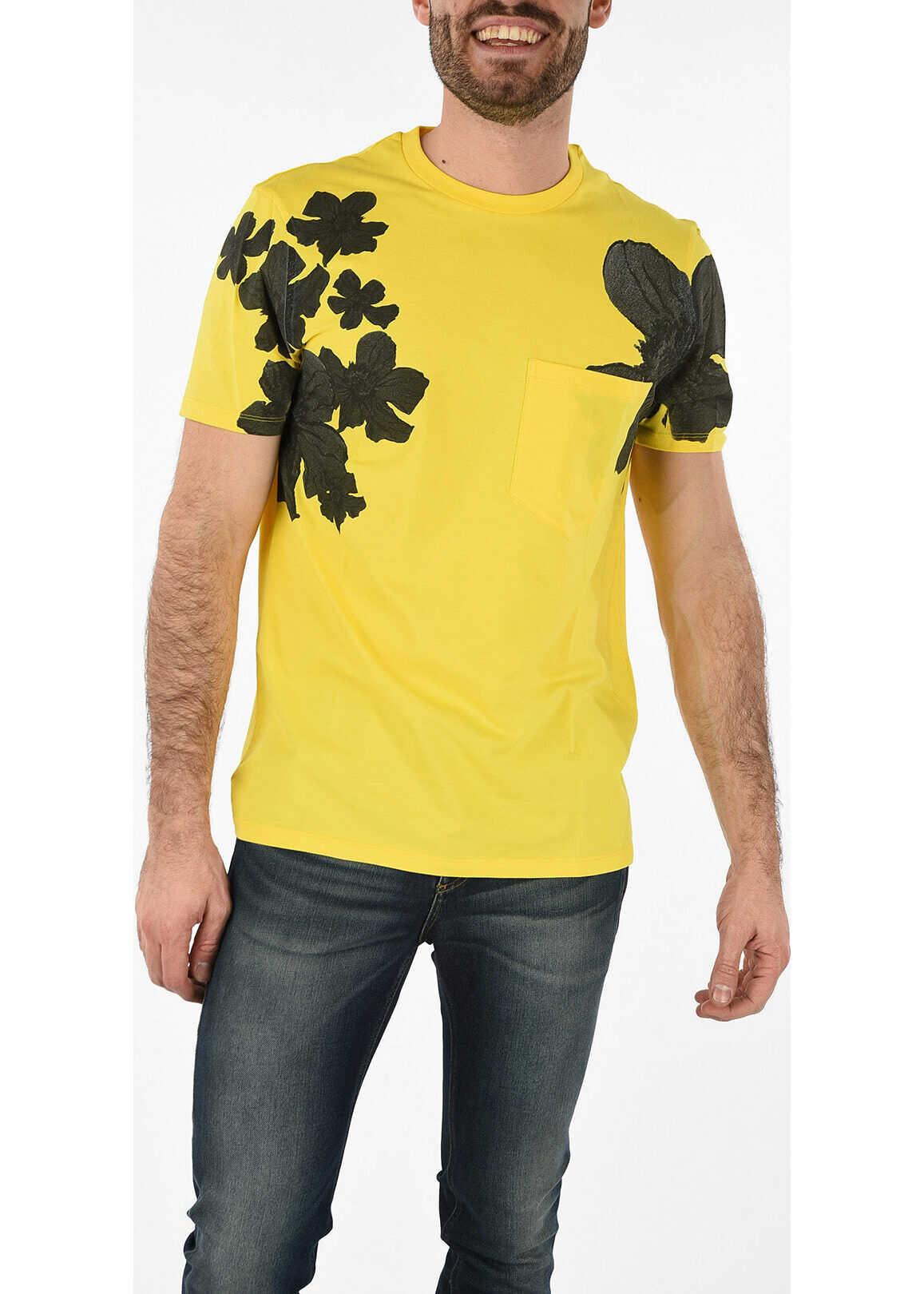 Neil Barrett Floral Printed Oversized T-shirt YELLOW