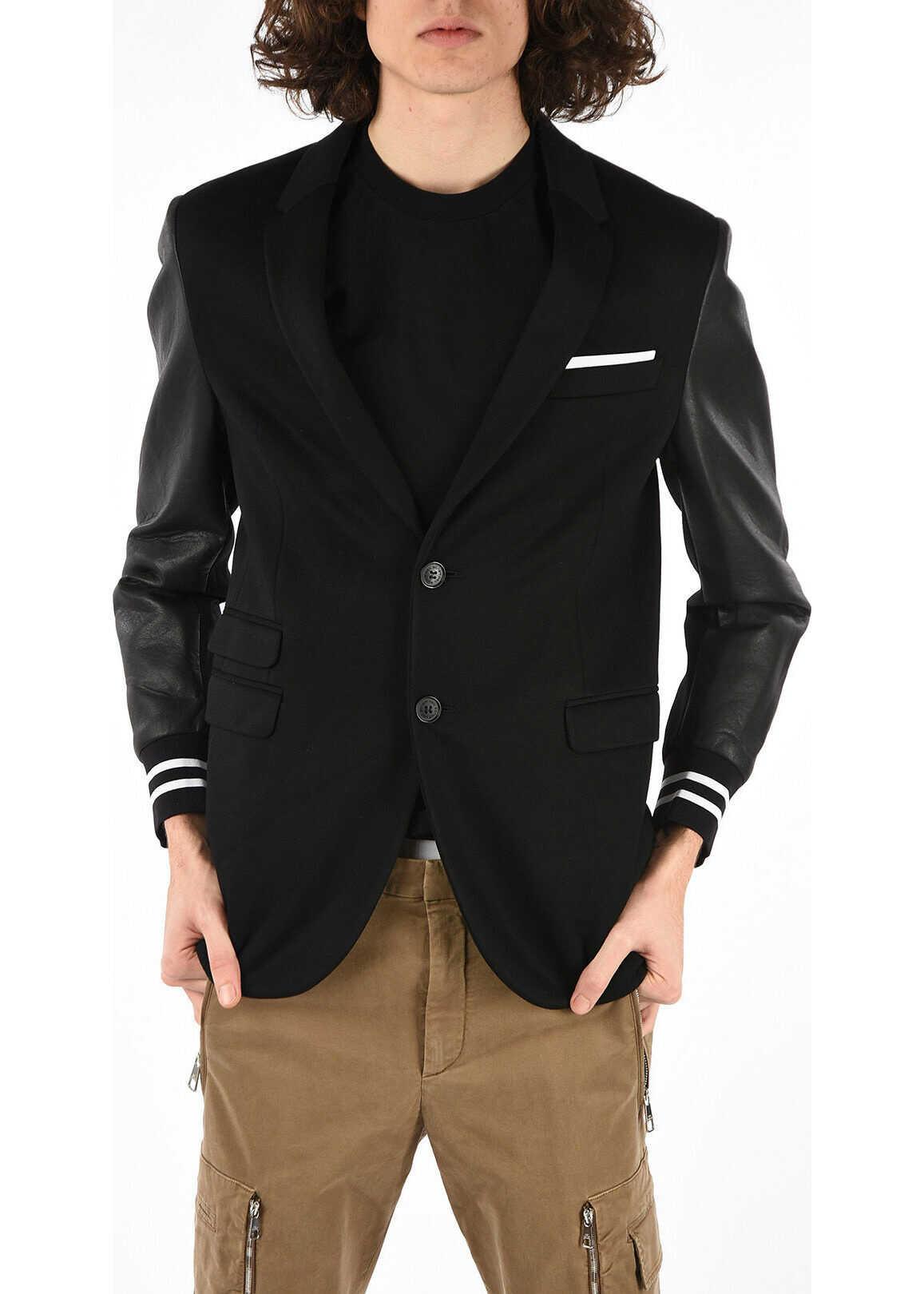 Neil Barrett Long Sleeve SLIM FIT T-shirt BLACK