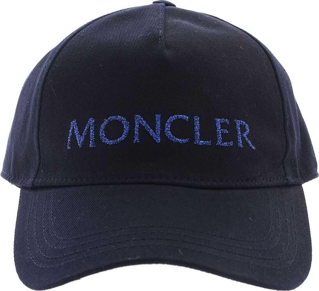 Moncler Moncler Baseball Hat In Blue Blue