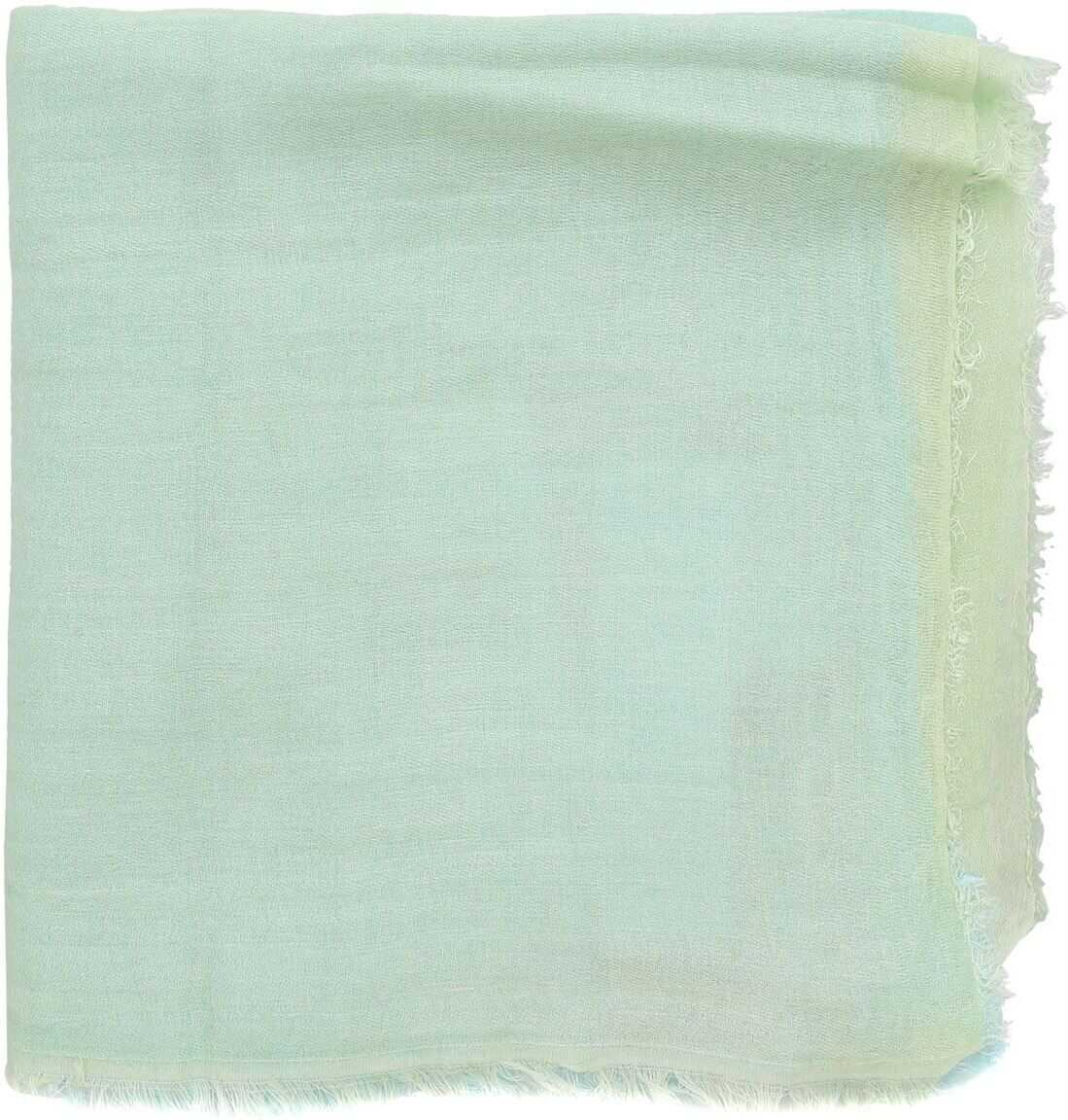 Be Blumarine Gradient Scarf In Green And Turquoise Turquoise