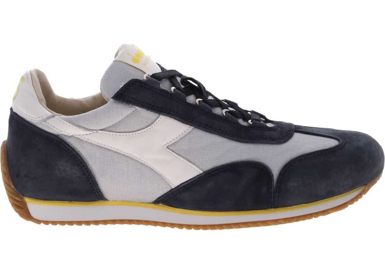 Diadora Heritage Equipe H Canvas Stone Wash Sneakers Blue