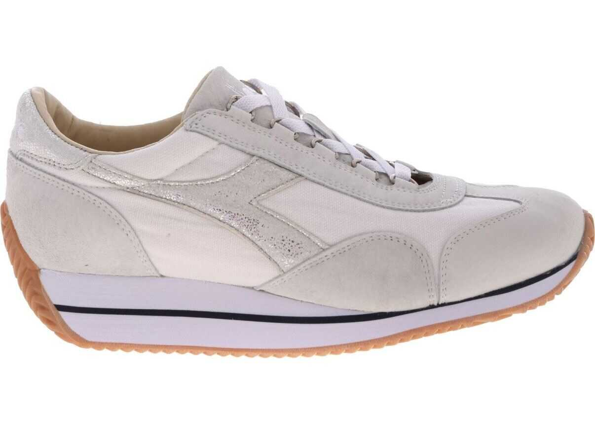 Diadora Heritage Equipe H Canvas Sw Evo Sneakers In White Grey