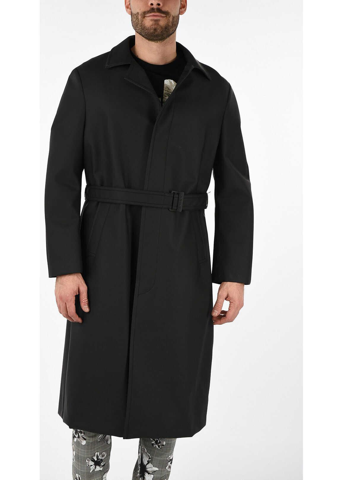 Neil Barrett Waterproof Raincoat BLACK