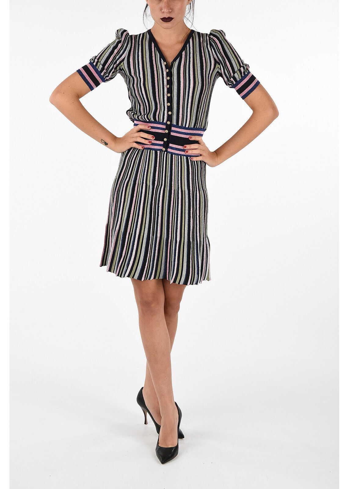 Armani EMPORIO Knitted Striped Dress MULTICOLOR