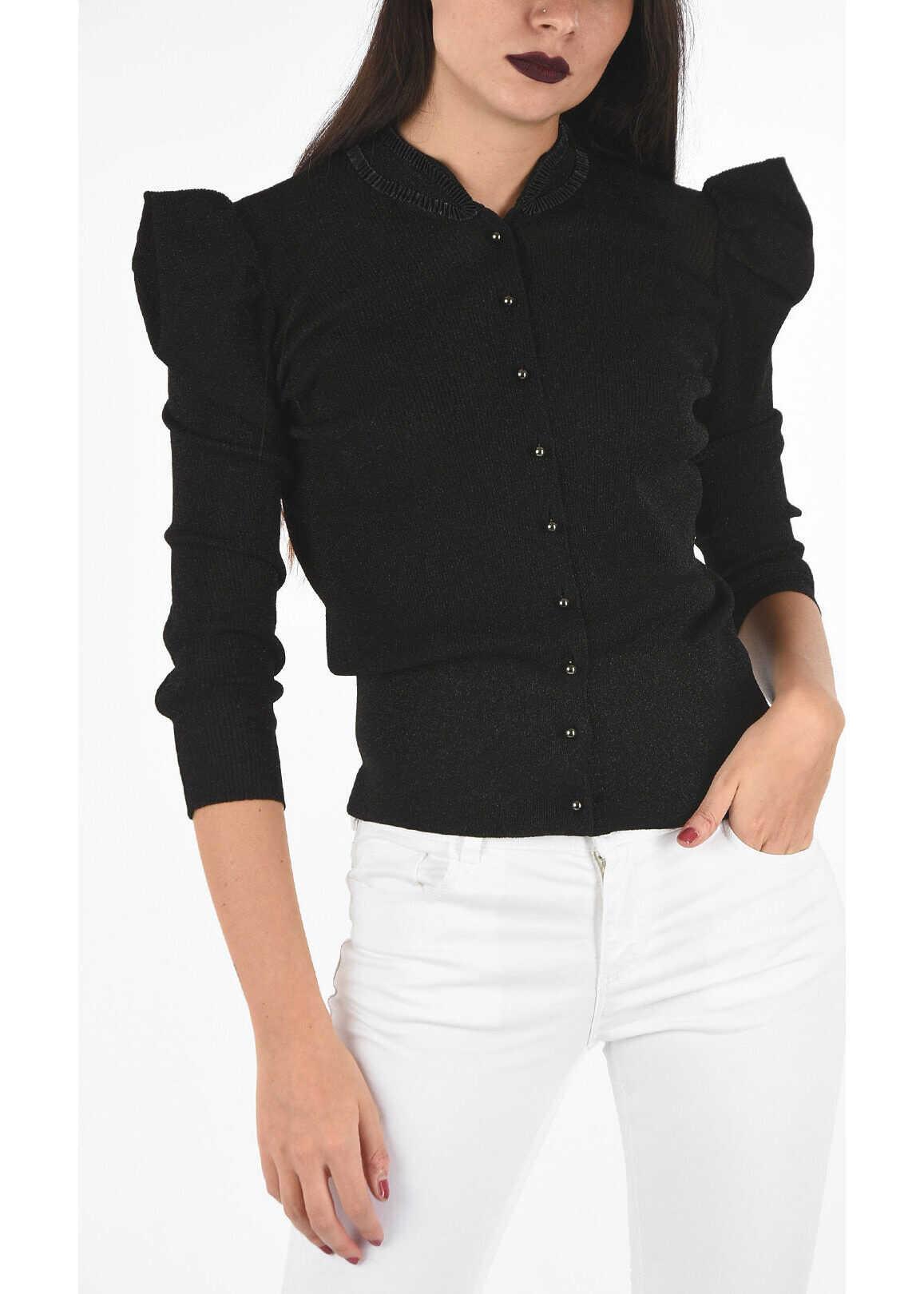 Armani EMPORIO Glittered Cardigan BLACK